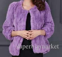 Nouveau manteaux de fourrure de lapin rex naturel automne et hiver femmes O cou long manteau de fourrure mince survêtement