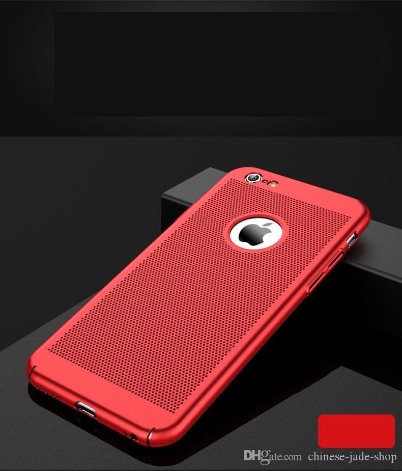 Full Cover Matte Slim Hard PC Mesh Case for iPhone x 8 5 6 6S PLUS 7 8 Plus Grid Hollow Out Shell 100