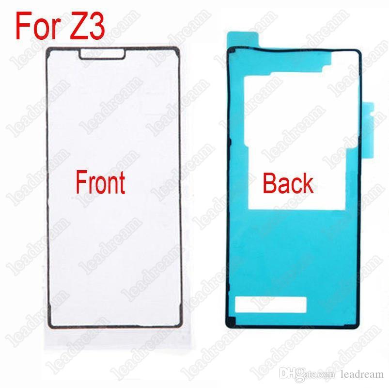 Frontscheibe und Rückseite wasserdicht klebendes Klebeband Aufkleber für Sony Z Z1 Z2 Z3 Mini XL39H L39H L36H C6603