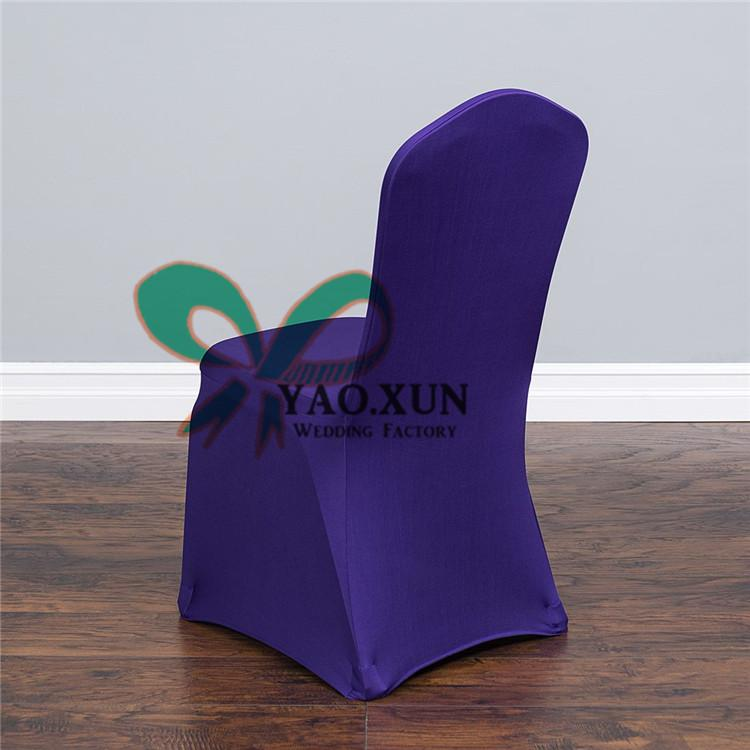 Purple Color Wedding Spandex Lycra Chair Cover Factory Price