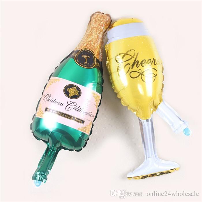 Nuovo mini Girasole Wineglass Star birra torta aerostati della stagnola dell'elio festa di compleanno palloncini animali a tema suppies del partito