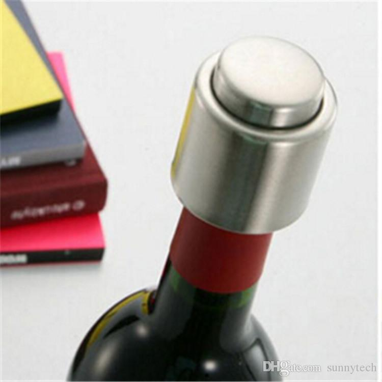 Red Wine Bottle Stopper Stainless Steel Vacuum Sealed Bottle Spout Liquor Flow Pour Cap Champagne Stopper Beverage Closures WA1462