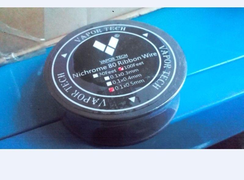Vapor Tech Nichrome 80 Ribbon Wire 100feet For Diy Rebuildable Rda ...