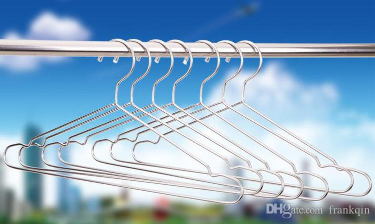 2018 Fasion 45cm Stainless Steel Clothes Hangers,Strong Metal Wire ...