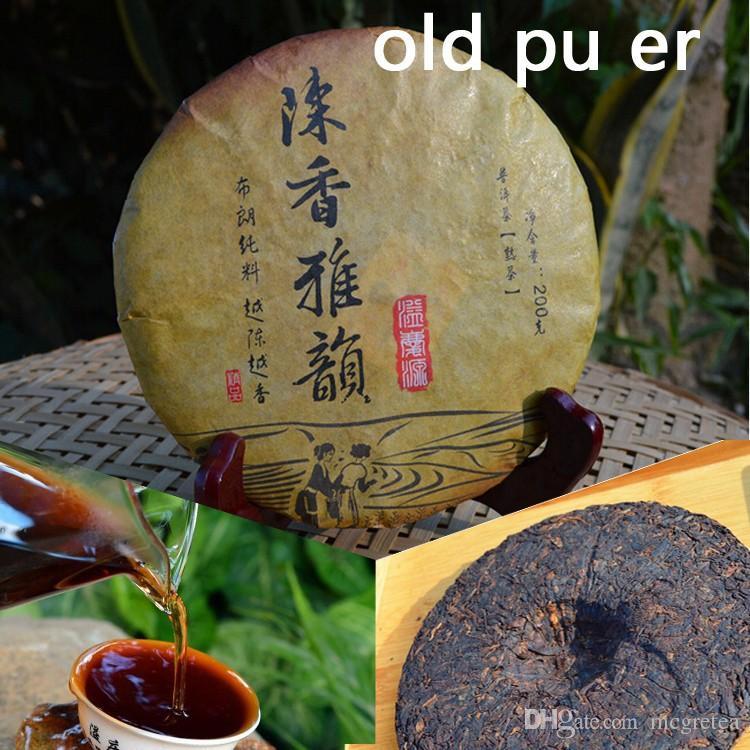 thé mûr pu er, 200g de thé oldpuer au miel sucré ,, thé de Puerh rouge-rouge bonne boisson thé de Chine