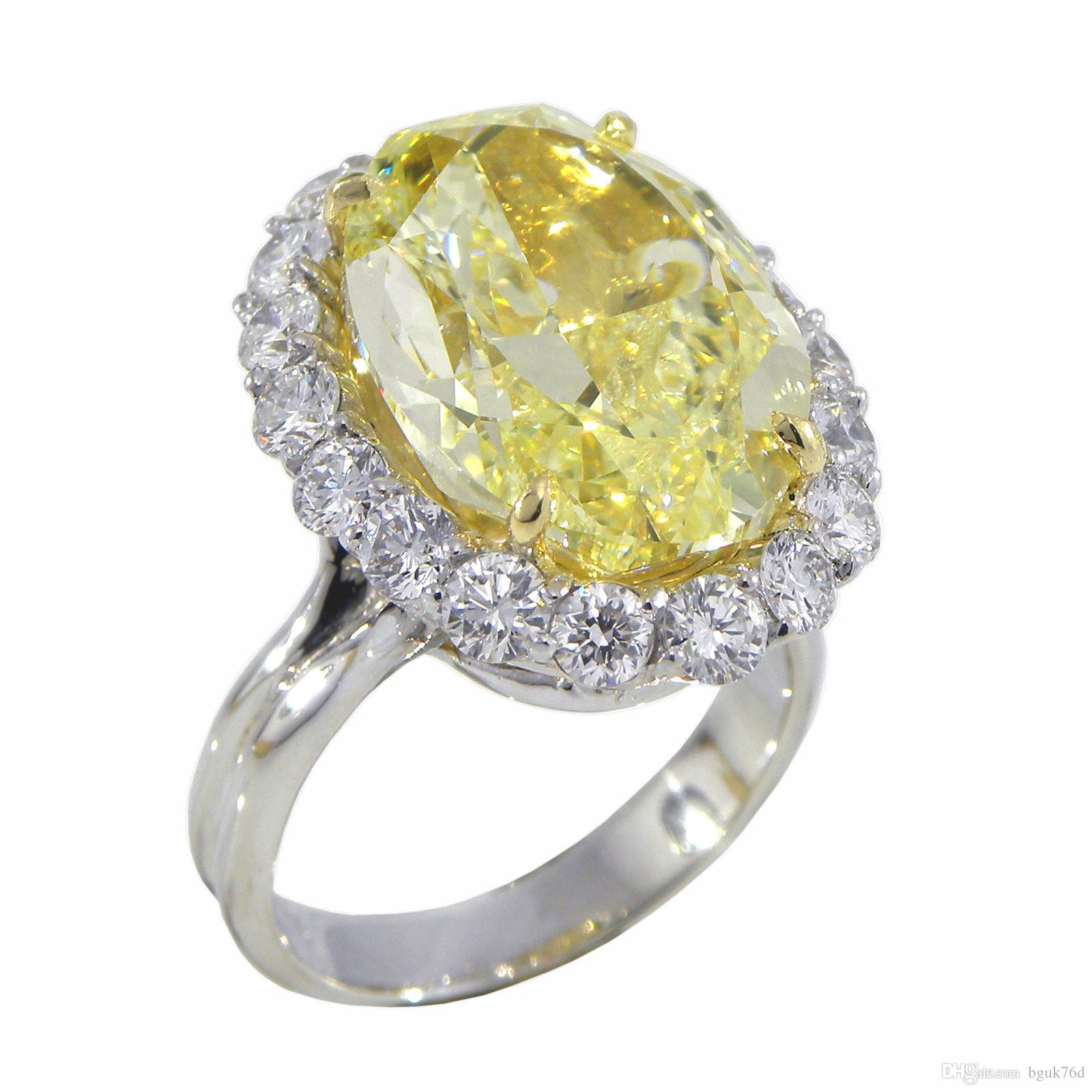 rings ring diamond engagement canary yellow