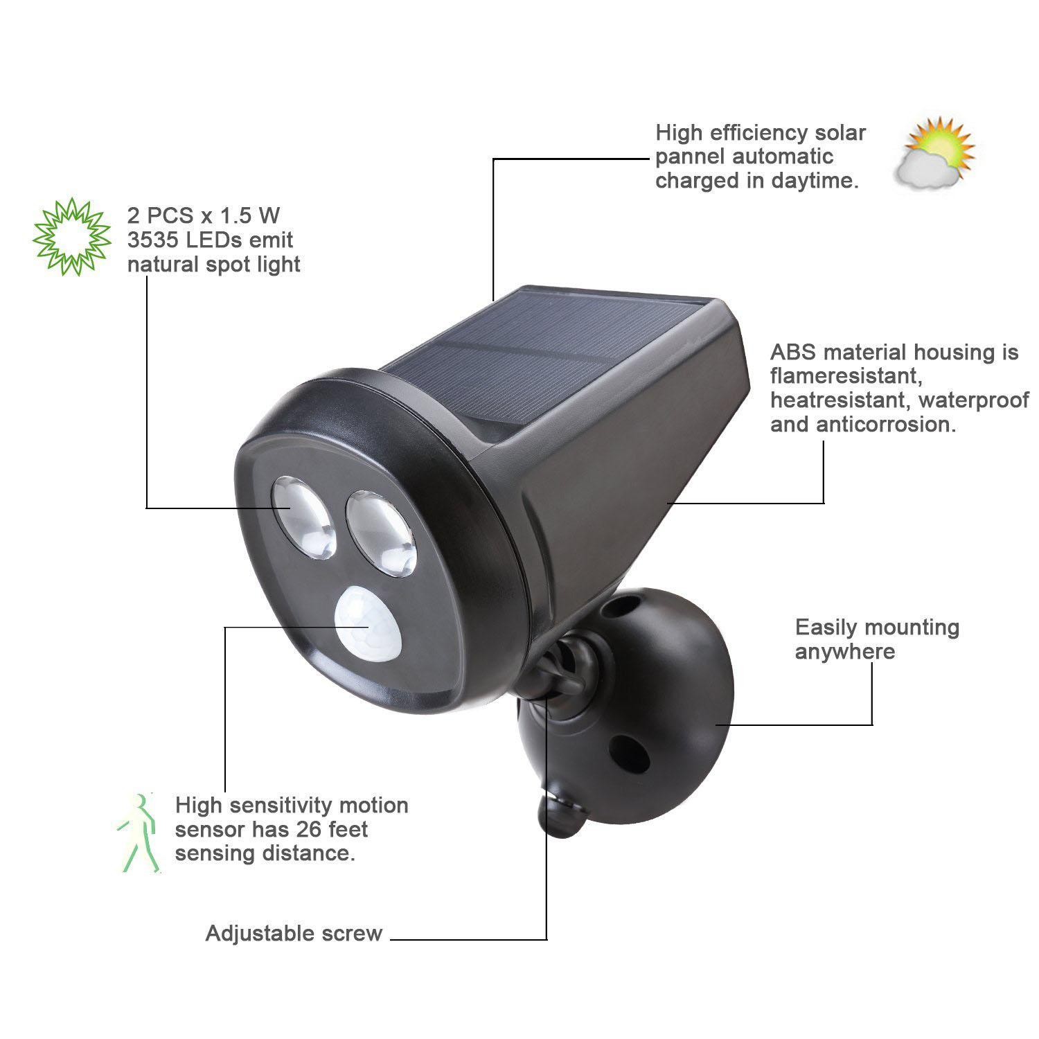 Wholesale- Outdoor Wireless Solar Powered Motion Sensor Detection ...