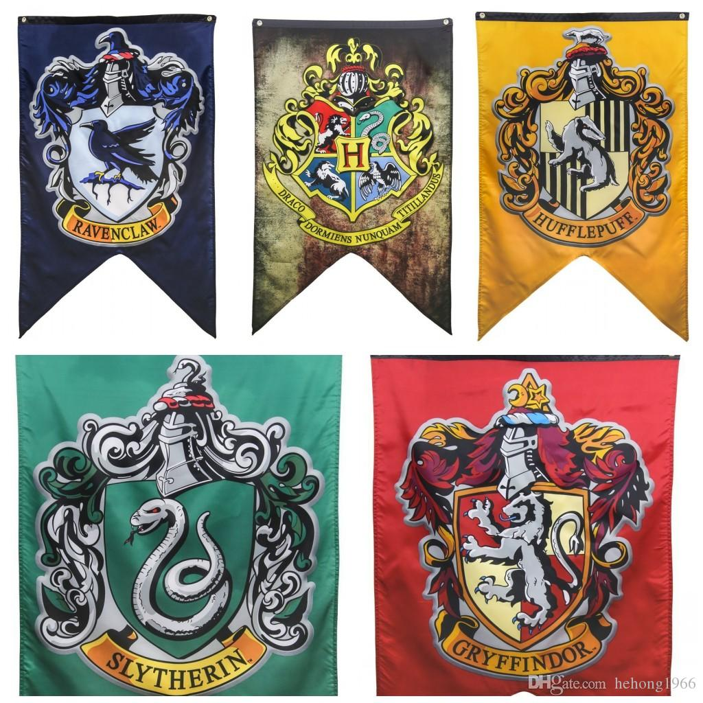 2018 Harry Potter Gryffindor Flag Polyester Hufflepuff Slytherin Ravenclaw  Banner For House Wall Decoration Banners Flags Abstract New 18ym B R From  ...