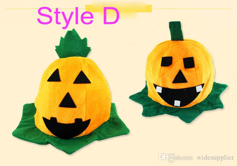 Halloween Supplies Halloween Makeup Dresses Performance Props Multiple Style Pumpkin Hat Pumpkin Cap 45g for Kid 14 years old or older