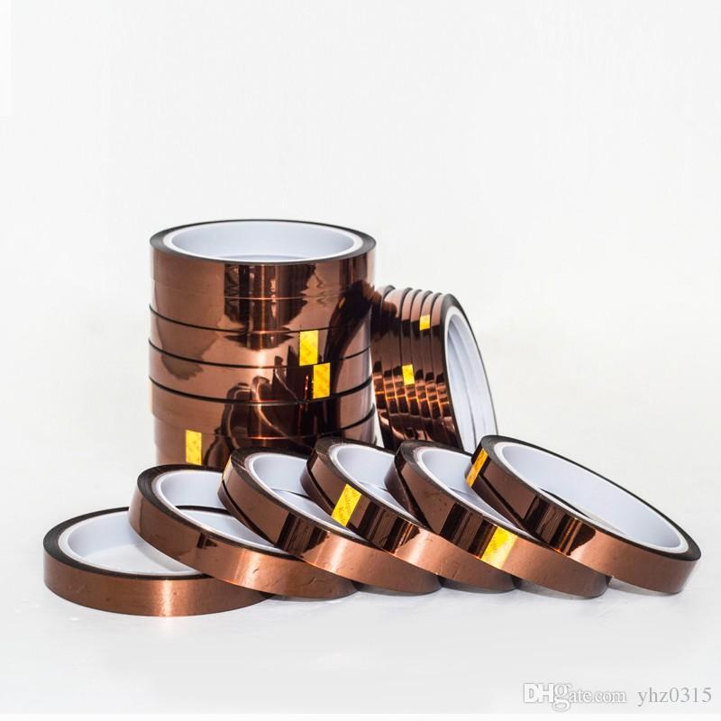 Cinta de poliimida dedicada de alta temperatura resistente al calor de la cinta de 10 mm x 33 m para impresora BGA PCB SMT 3D hasta 250 grados