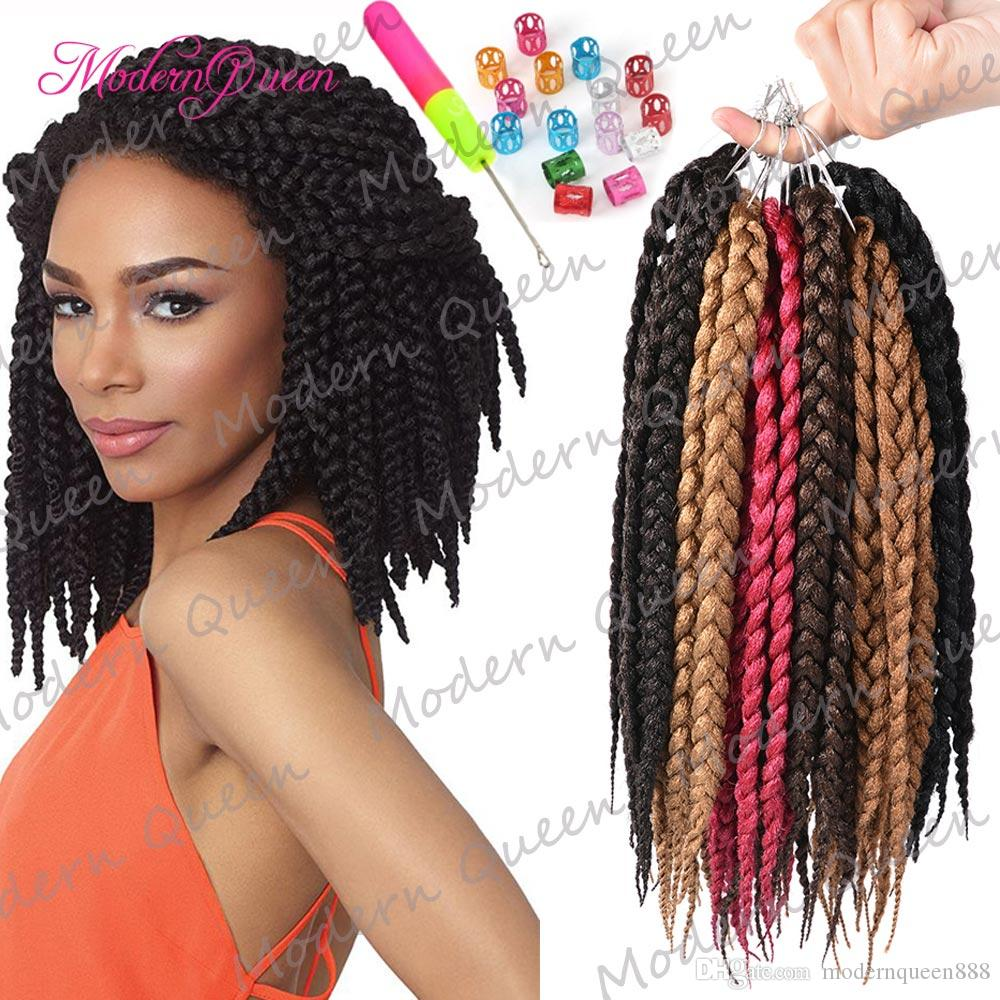 Hot Kanekalon Box Braids Hair Crochet 12inch Crochet Hair Extensions