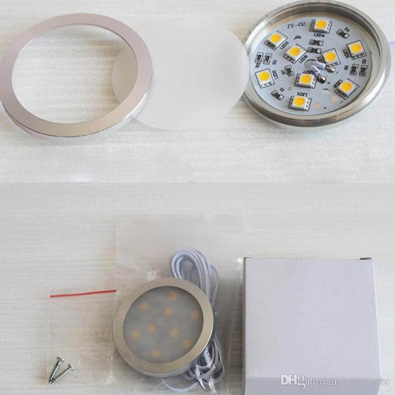 1.8 W LED Cabinet Spot Light 9 pz SMD 5050LED DC12V 150lm Rotondo Sottile Mobili Da Incasso Mini Night Light drink cabinet decorazione lampadina