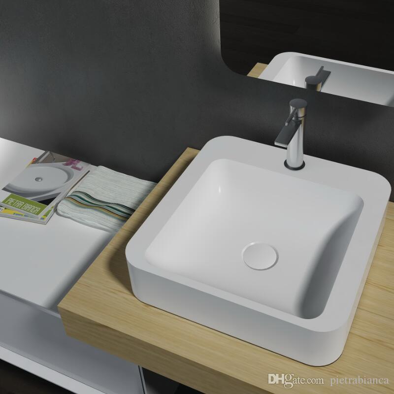 2018 Bathroom Furniture Acrylic Resin Stone Solid