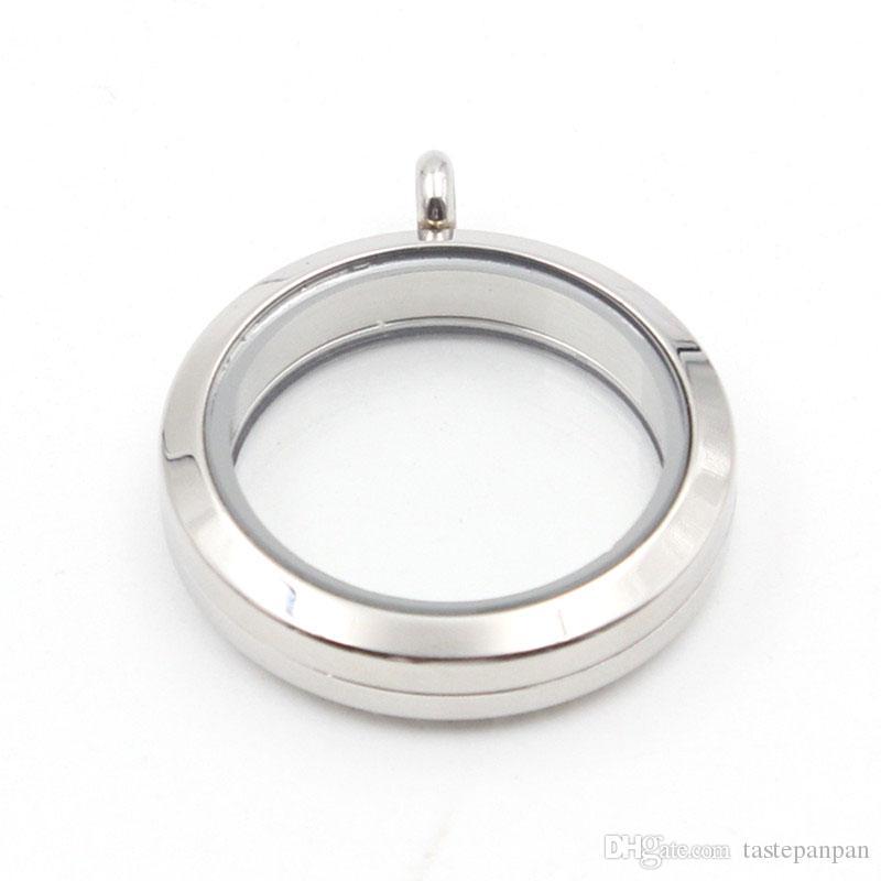 Gioielli Panpan! Medaglione flottante da 30 mm Medaglione da medaglione magnetico rotondo 316L Ciondolo con ciondolo di vetro in acciaio inossidabile