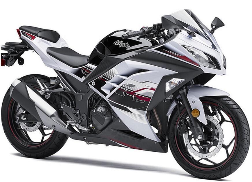 3 Cadeaux Gratuits Pour Kawasaki Ninja 300 Zx300 2013 2015 Zx300r Injection Moiding Abs Kit Carénage Moto Ninja300 13 15 Noir Blanc V