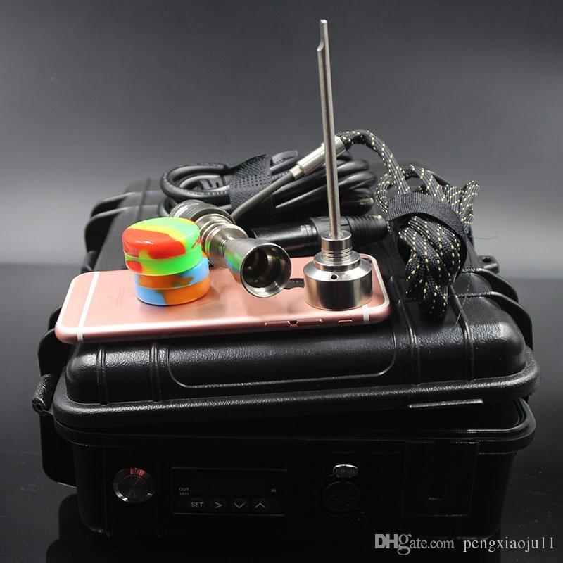 Barato D Clavo eléctrico Nail Controller Cera PID TC Box Con 10mm 16mm 20mm Bobina Titanio Clavo Carb Cap Cap