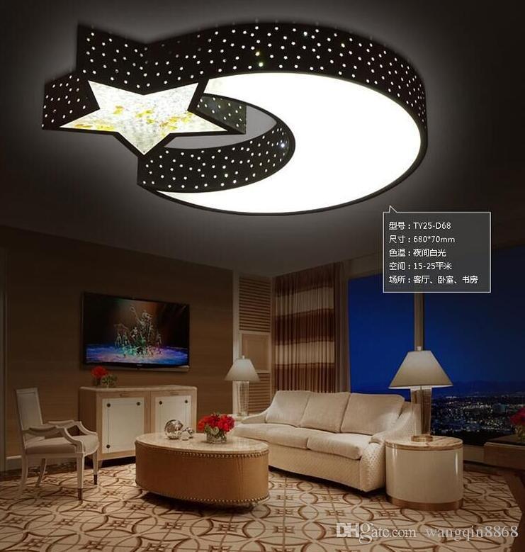 Compre Lámpara Para Niños Star Moon Led Luz De Techo Personalidad ...