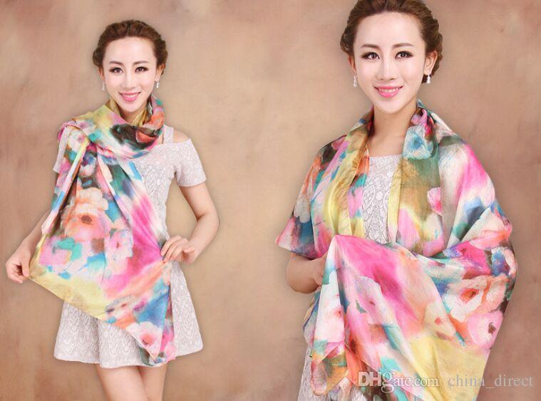 Gorgeous 100% Silk scarf Shawl SCARF scarves Scarf #1428
