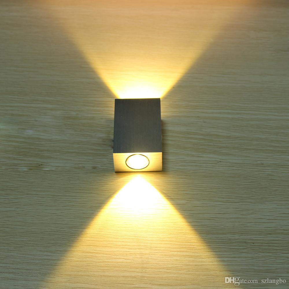 현대 2W 6W 주도 벽 조명 AC85-265V 고품질 화장실 침실 독서 벽 램프 장식 조명