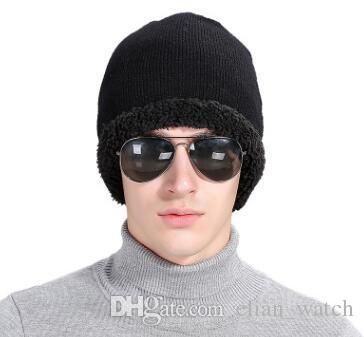 women fashion christmas gifts black thickening outdoor ski knitting beanies men plus wool warm ski wool hats neutral free code sports caps custom beanies