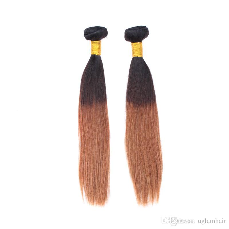 Sample Brazilian Ombre hair extensions weaving Silky Straight remy human hair Weaves Uglam hair products Super Nice bundles