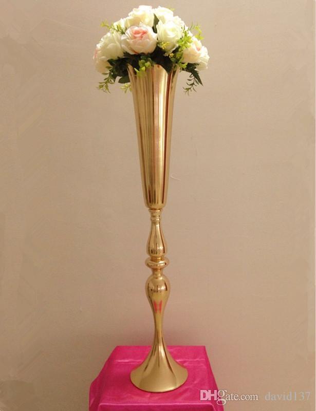 Горячая продажа золото психическое цветок стенд для свадьбы центральным главная партия свадебные украшения