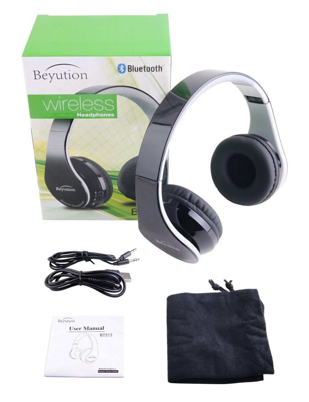 60bd46d1d95 bluetooth headset Beyution V4.1 Bluetooth Wireless Foldable Hi-fi Stereo  Headphone for Smart Phones & Tablets - Black
