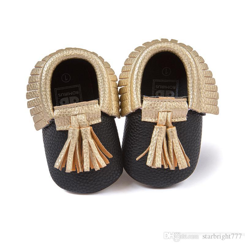 New Baby First Walker Shoes Soft moccasin Baby moccasins soft sole moccasin leather Colorful Tassel booties toddlers shoes