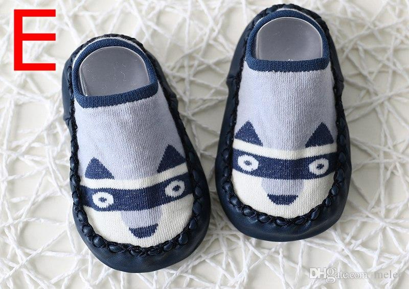 INS Fox Kids Spring New Cartoon anti slip First Walkers Floor Socks Cotton Baby Shoes Non-slip Toddler Socks Baby Floor Socks free