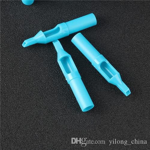 5FT Disposable Blue Tattoo Nozzle Tips Plastic Tips For Tattoo Machine Supply For Body&Art
