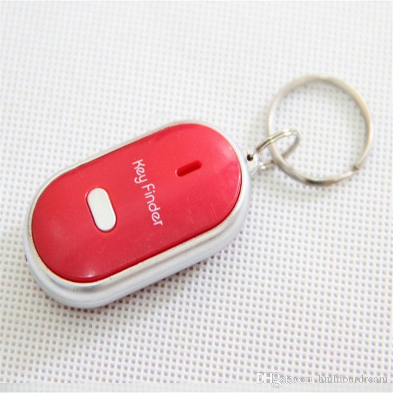 LED Key Finder Locator Finden verlorene Schlüssel Kette Keychain Whistle Sound Control 100 teile / los Parrty Favor geschenke a36-a41