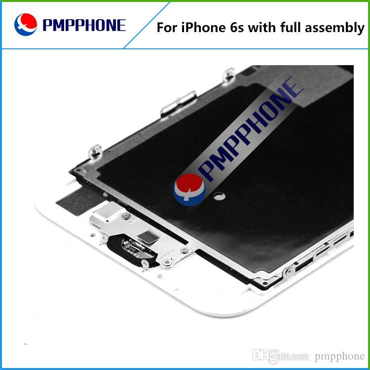 Grande schermo LCD di qualità Tianma con cornice + fotocamera frontale + pulsante Home completo la sostituzione del touch screen LCD iPhone 6s