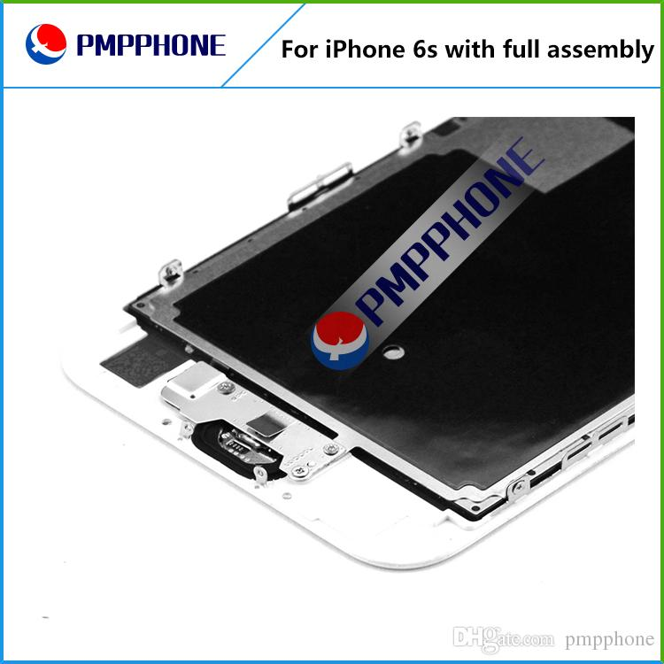 Great Tianma Quality LCD with Frame + Front Camera + Home Button Full Assembly for iPhone 6s LCD Touch Screen Digitizer Replacement