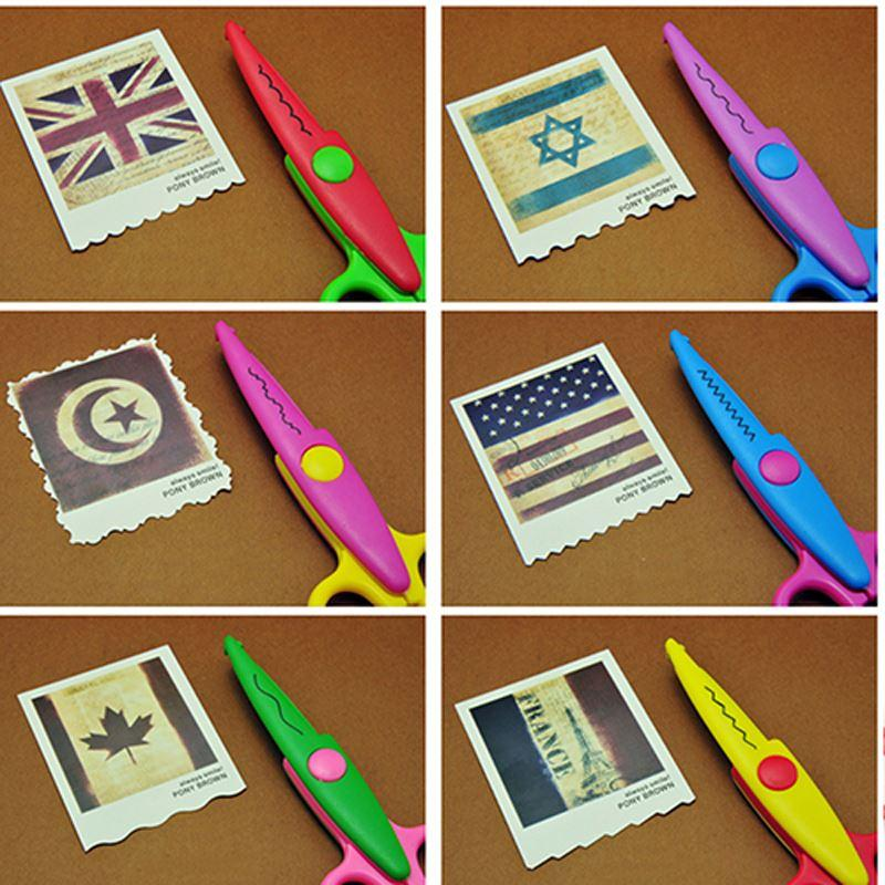 Online Cheap Children Kids Paper Craft Scissors 6 Cutting Patterns