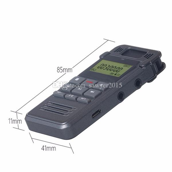 8GB Noise Reduction voice recorder LCD Display Digital Audio Voice Recorder Dictaphone Telephone Recording with MP3 Player in retail box