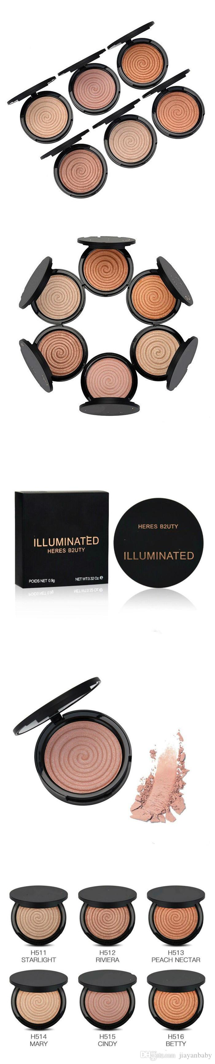 Christmas hot sale New brand! Makeup HERES B2UTY naked Face Bronzers Highlighters ILUMINATED 0.9G DHL Free shipping best gift