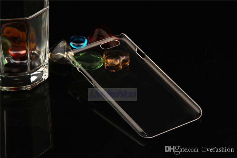 Cep Telefonu Arka Kapak Temizle Kristal Sert PC Şeffaf Kılıf koruyucu kabuk Için iPone 7 6 Artı 5 Samsung S7 Kenar Not