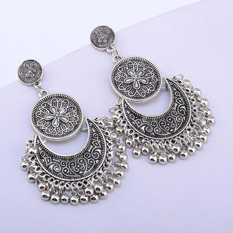 Newest Vintage Beads Dangle Earrings Bohemian Drop Crescent Earring Women Indian Classic Tassel Dangle Earrings Punk Earrings From China