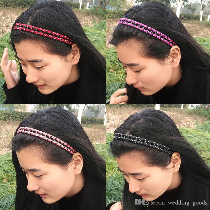 Hot sale Hair ornaments headband fashion simple ladies cloth sweet hairpin headdress chain hair band TG059 a