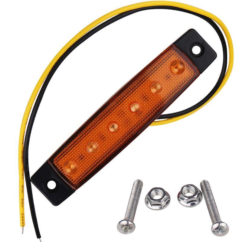 4 adet 12 V 24 V 6 LED Araç Kamyon Römork Arka Kuyruk Dur Işık Dönüş Işık Gösterge Lambası Gösterge Led Ampul