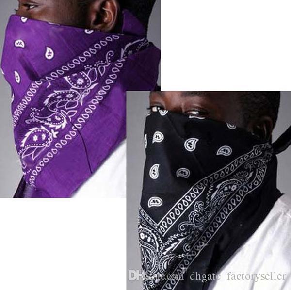 Heiße Verkäufe Halstuch 100% Baumwolle Bandana 55 cm * 55 cm Paisley Gedruckt Handtuch Gesicht Cashew Bandanas 21 Farben Verfügbar Stirnband