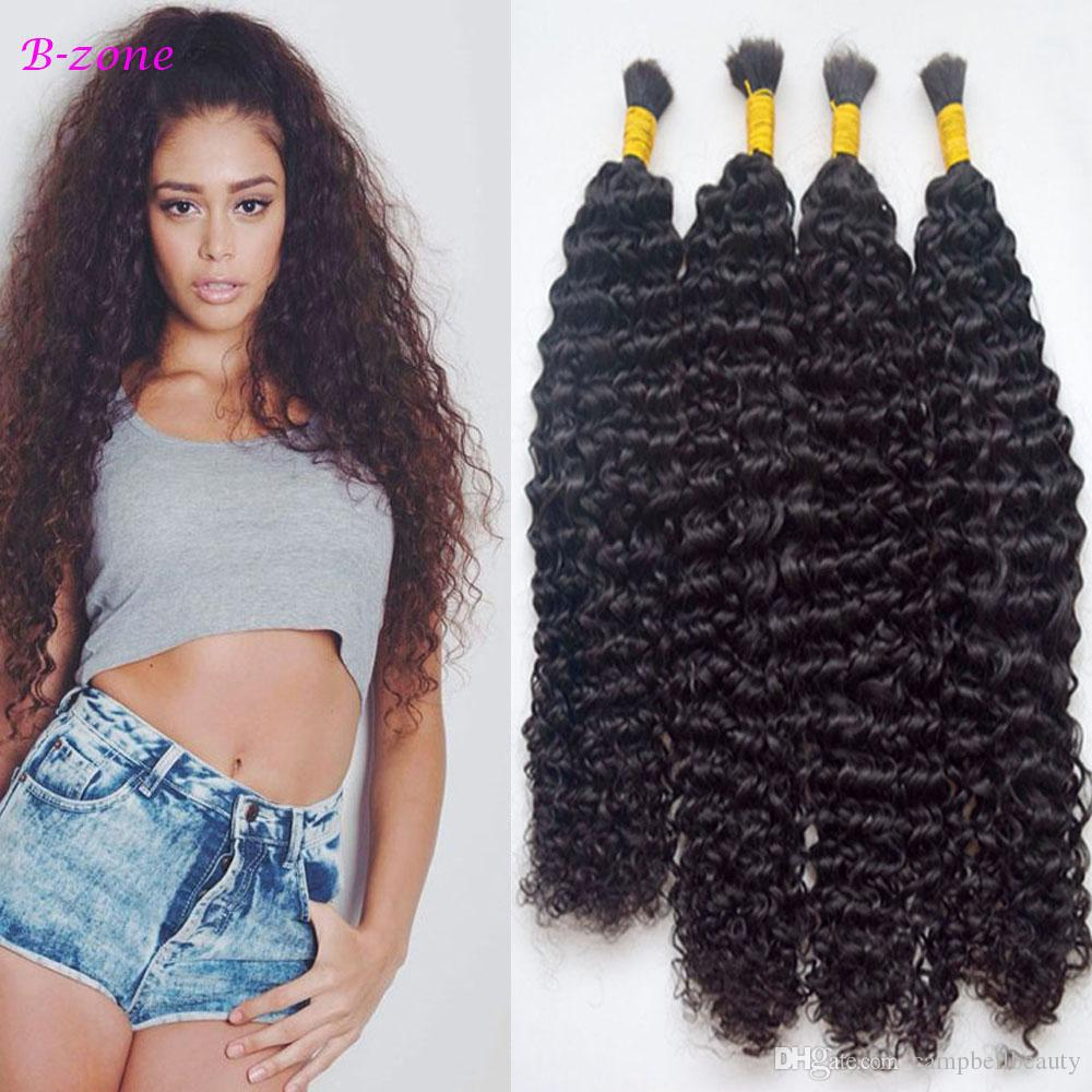 "100g Deep Kinky Curly Human Braiding Hair Bulk Brazilian Virgin Human Hair 4 Colors Available 10""-28"""