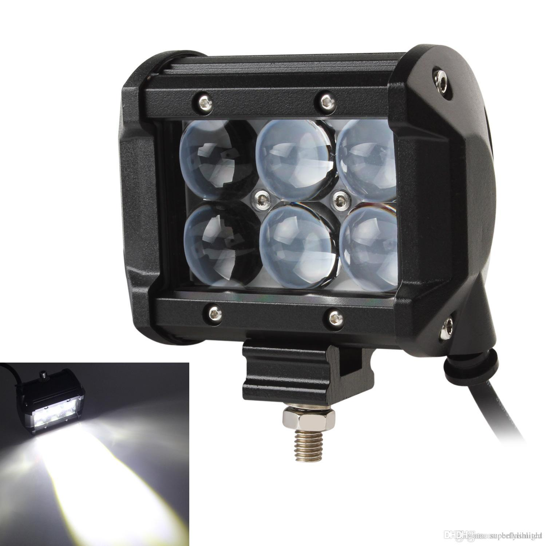 4 Inç Araç 30 W 2550LM LED İş Spot Işık Çubuğu 4WD ATV Off-road SUV Sürüş Lambası