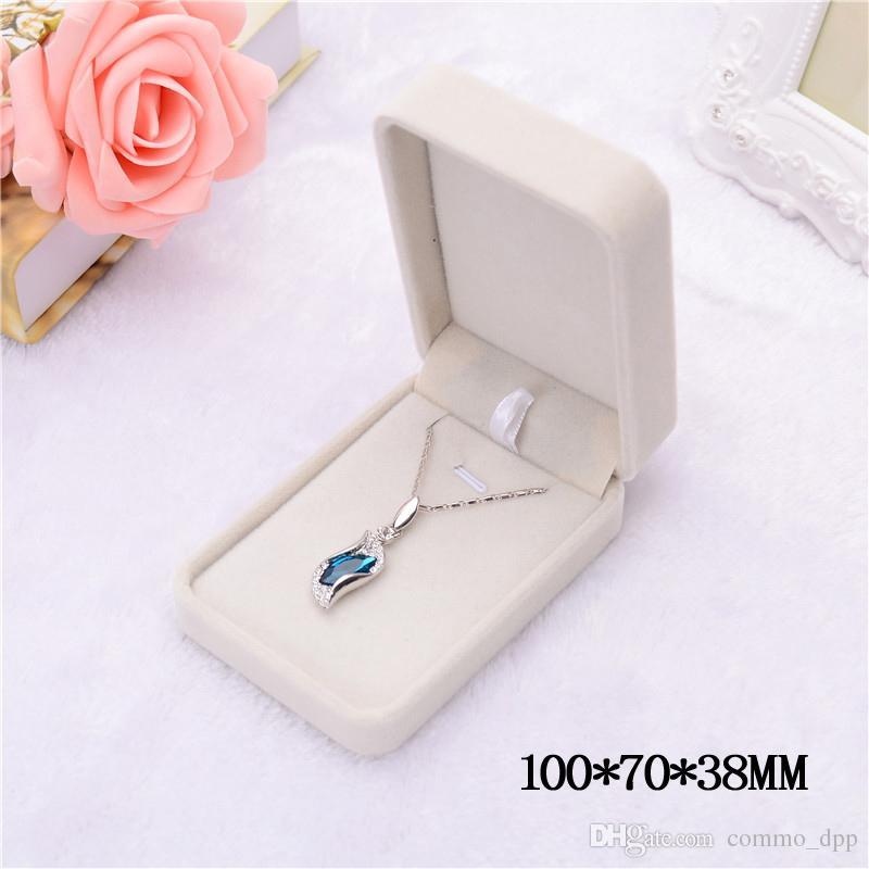 Мода шкатулки для ювелирных изделий PinkCreamy-белый бархат кольцо серьги кулон ожерелье браслет Браслет классический показать роскошные восьмиугольные подарочная коробка