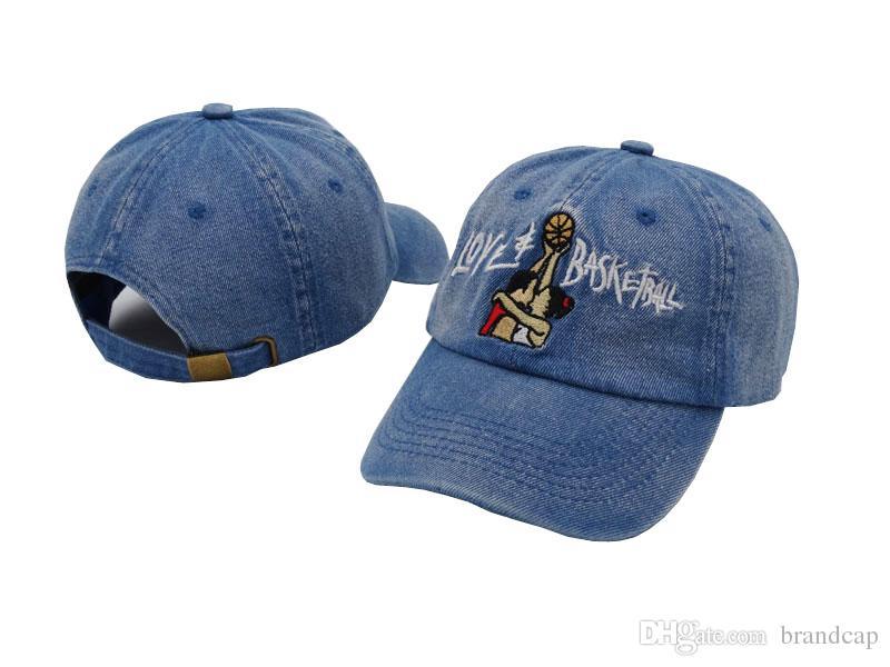 Black Denim Love & Basketball Movie Retro Baseball Cap Hip Hop Snapback Brand Hats For Men Women Vintage Dad Cap Sports Golf Hat