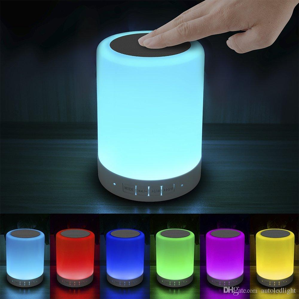 2018 Led Touch Bedside Lamp With Bluetooth Speaker , Dimmable ...