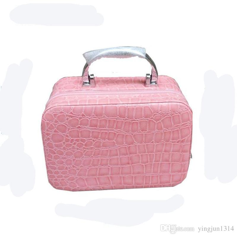 Fashion Makeup Boxes Cosmetic Bag Admission Package Jewelry Cases Necklace  Storage Box Korean Cosmetics Pouch Handbag Travel Train Cases Caboodles  Train ... af641de713073