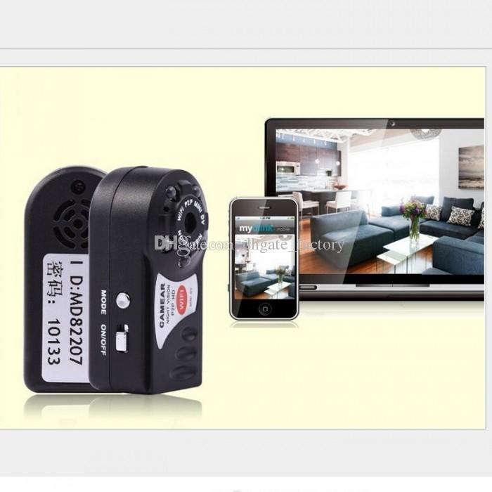 Q7 Mini Wifi DVR Sans Fil IP Caméscope Enregistreur Vidéo Caméra Infrarouge Nuit Vision Caméra Intégré Microphone pas memerycard livraison gratuite