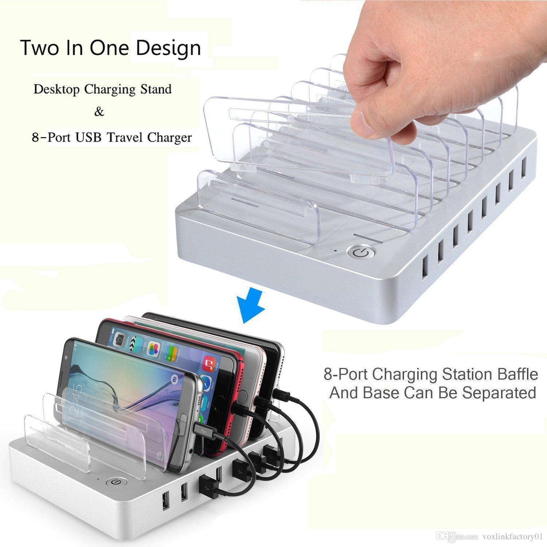 Usb Charging Hub >> Voxlink Usb Charging Hub 8 Port Desktop Charging Station Home Travel
