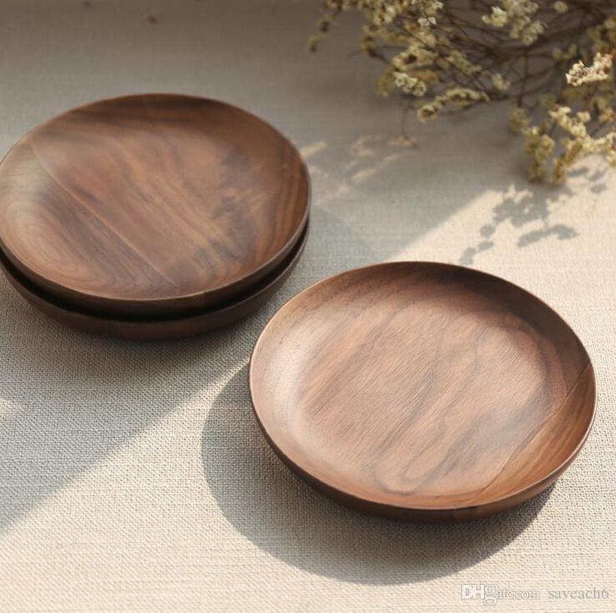15cm / 5.9inch Eco Plate Dish DIY Craft Wood Sushi Platter Dessert Biscuits Plate Tea Server Tray Wooden Cup Holder Pad 15cm 5.9inch Wood Plate Dish DIY ... & 15cm / 5.9inch Eco Plate Dish DIY Craft Wood Sushi Platter Dessert ...